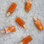 4-ingredient Peaches and cream popsicles