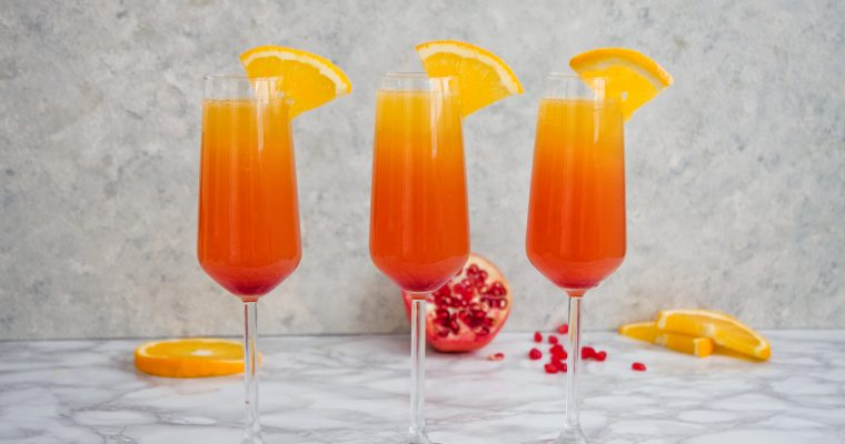 Sunrise Mimosa Cocktail