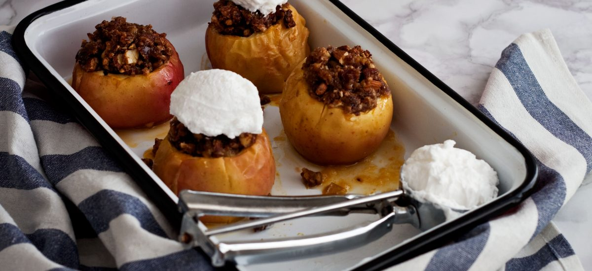 Maple Pecan Baked Apples