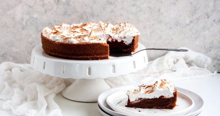 Chocolate Meringue Tart
