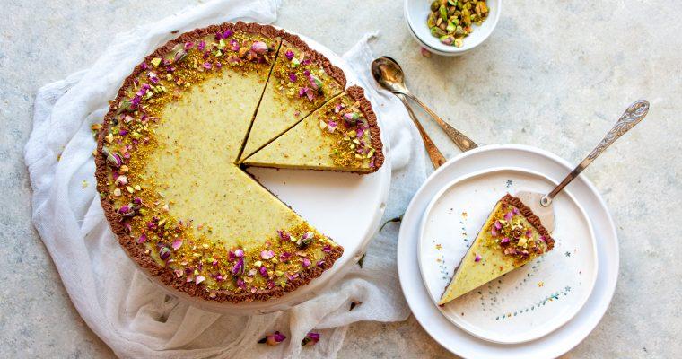 Pistachio Cream Raspberry Jelly Tart